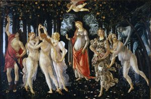 Botticelli's magnificent painting the Primavera is full of allegorical meaning about love and life