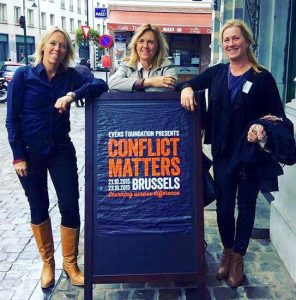 Here is Annika with a few of her team at the Conflict Matters conference in Brussels